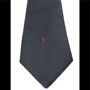 YSL Red Logo Black Tie, VGUC